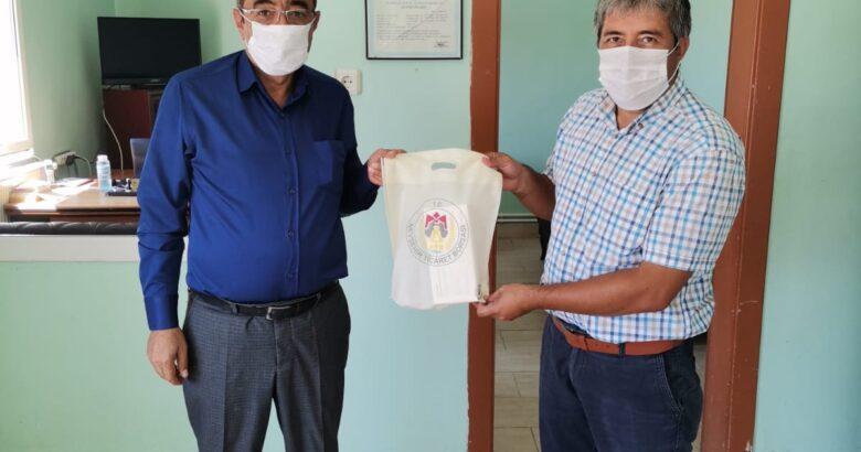 NTB Üyelerine Dezenfektan ve Maske dağıttı