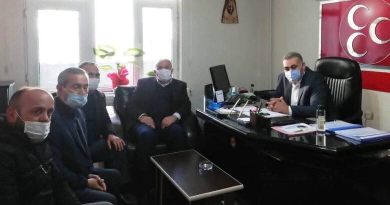 Vatan Şehitleri Derneğinden Başkan Kaya'ya hayırlı olsun ziyareti