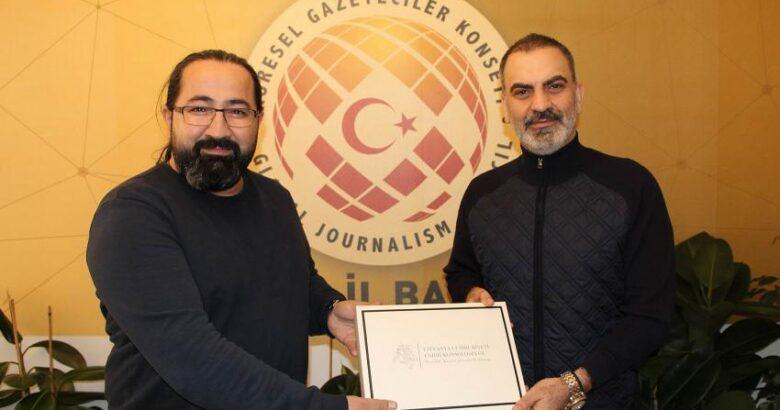 KAPTİD Başkanı Dinler, KGK İl Başkanı Karaca'yı ziyaret etti