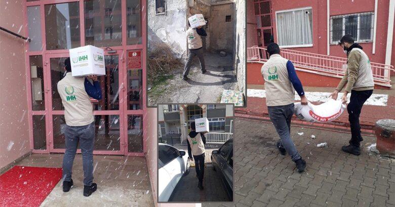 İHH ekipleri kar-kış demeden Nevşehir'de yardıma koşuyor