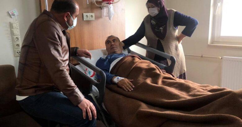 Başkan Çekiç hasta ziyaretlerini sürdürüyor