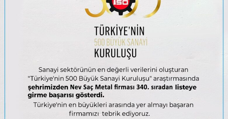 NESİAD Başkanı Ertaş'dan NevSaç Firmasına Tebrik