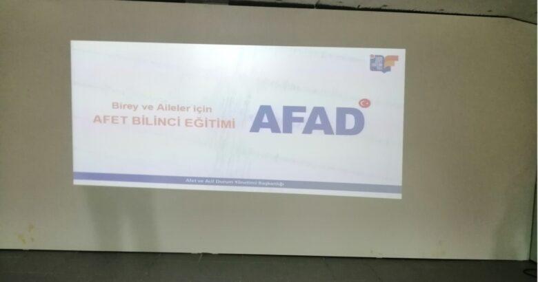 Ürgüp'te eğitimcilere AFAD eğitimi