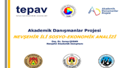 Nevşehir'in sosyo – ekonomik analizi de yapıldı