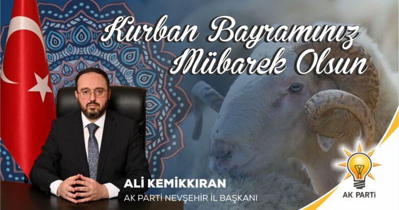 AK Parti İl Başkanı Kemikkıran'dan bayram kutlaması