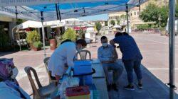 Ürgüp te Mobilize Aşı Ekibi Cumhuriyet Meydanında Aşılamaya Devam Ediyor