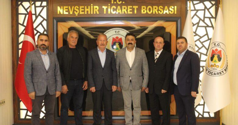 PÜSİAD, ilk ziyaretini Nevşehir Ticaret Borsasına gerçekleştirdi